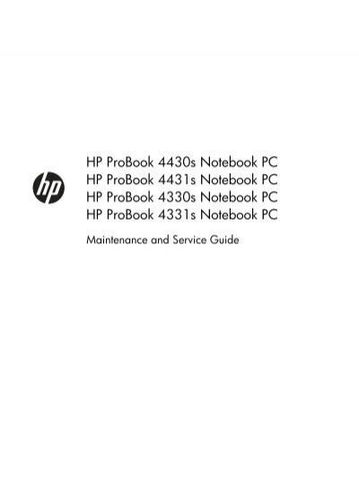 Hp Probook 4430s Notebook Pc Hp Probook 4431s Etilize
