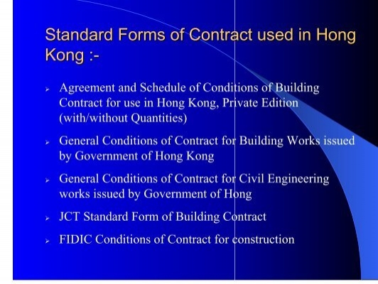 Standard Forms Of Contrac