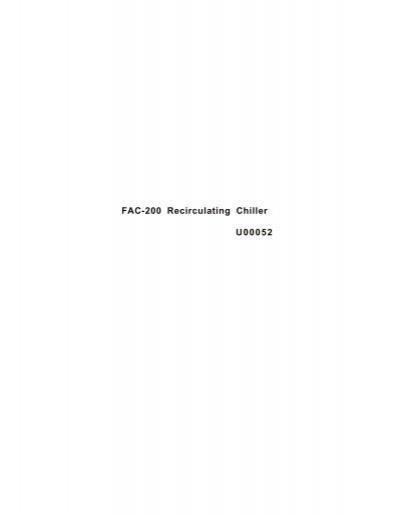 Hx chiller wiring diagram product wiring diagrams fac 200 recirculating chiller u00052 ptb sales rh yumpu com electrical wiring diagram symbols pdf tv asfbconference2016 Choice Image