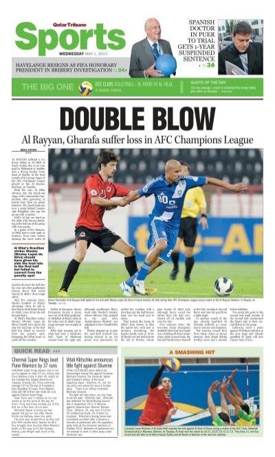 Al Rayyan Gharafa Suffer Loss In Afc Champions Qatar