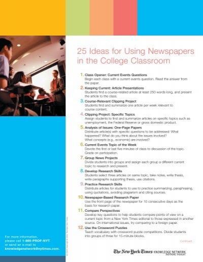 class topic ideas