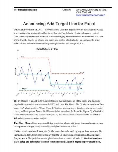 Add target lines to control charts qi macros for excel ccuart Images