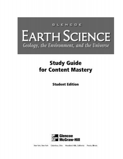 Earth Science: Geology, t