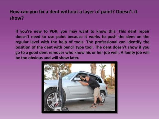 how to fix a dent