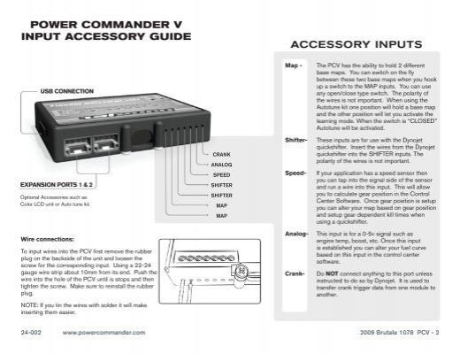 power commander v input a. Black Bedroom Furniture Sets. Home Design Ideas