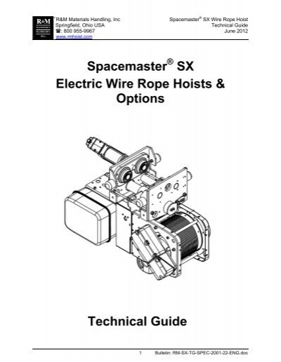 Spacemaster SX Electric Wire Rope Hoists & Options Technical GuideYumpu