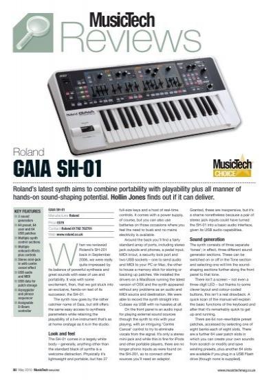 Gaia Sh 01 Roland Uk