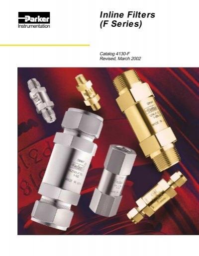 Parker F Series Brass Instrumentation Filter Inline 1//2 NPT Female 1 Micron