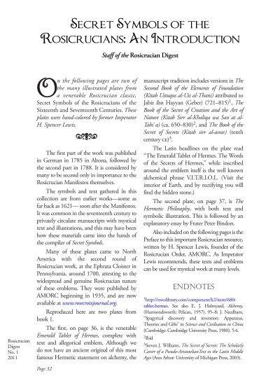 Secret Symbols Of The Rosicrucians An Rosicrucian Order