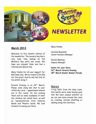 Download Stokenchurch Newsletter March 2013 Positive Steps