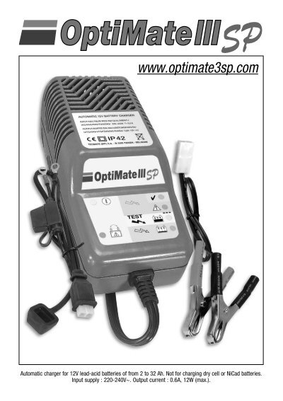 Optimate iii single outlet battery charger.
