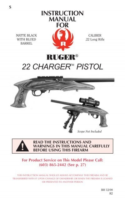 ruger 22 charger owner s manual tacticool22 com rh yumpu com ruger owners manual ruger owners manual