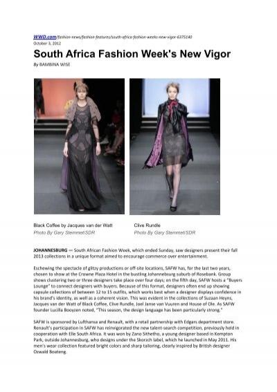 Download Pdf Sa Fashion Week