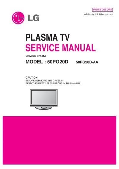 Plasma Tv Service Manual