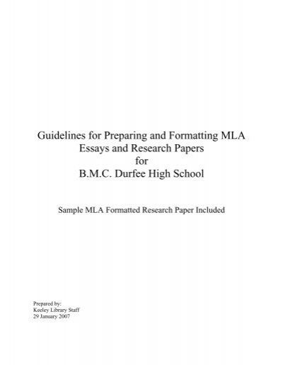 mla guidelines for essays