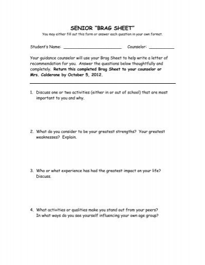 Senior brag sheet revised saint raphael academy for Navy brag sheet template pdf