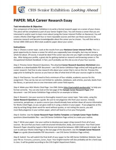 1500 Word Research Paper