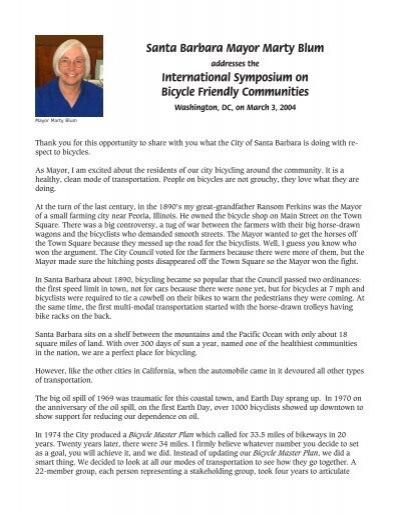 Blum, Symp Bike-Friend 3.04 - Santa Barbara Bicycle Coalition