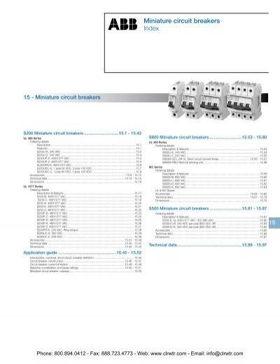 13 A ABB S202-B13 Miniature Circuit Breaker 6 kA Interrupt 480Y//277 VAC
