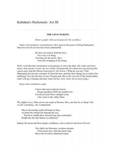 the story of shakuntala summary