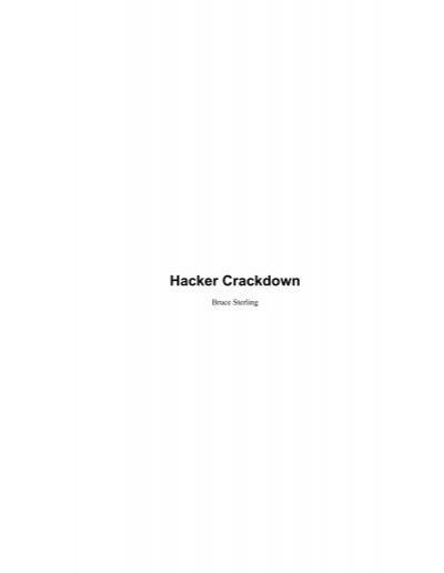 Hacker Crackdown Search Engine Org Uk
