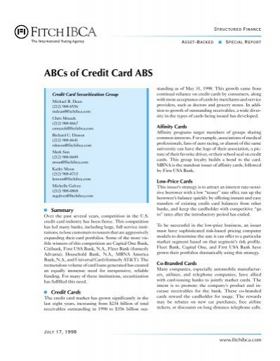 australian credit card and securitization essay Pay via credit card  2 identify the main debt securities of the australian bond market 3 define the purpose of securitization a) draw a diagram of a basic.