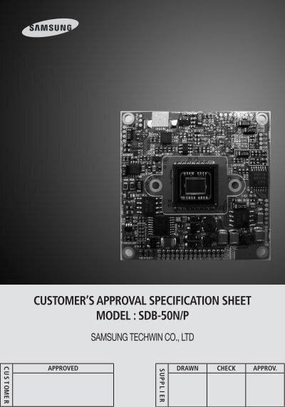 Customer 39 s approval specification sheet model sdb 50n p - Sdb model ...