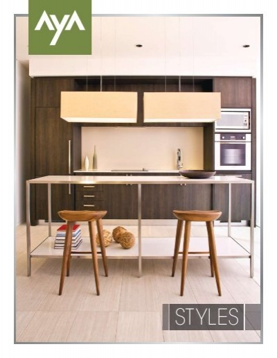 Aya styles brochure aya kitchens for Aya kitchen cabinets