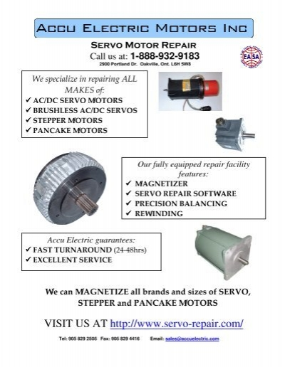 Line card accu electric motors inc for Electric motor repair portland oregon