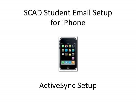 iphone email setup scad student email setup for iphone activesync setup 3532