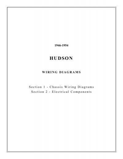 Incredible 1946 1954 Hudson Wiring Diagrams Wiring Database Ittabxeroyuccorg