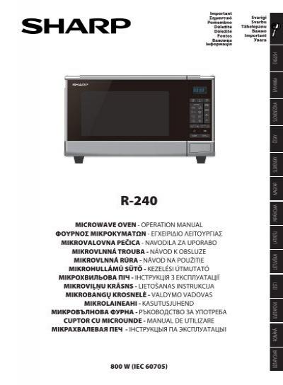 www yumpu com en image facebook 26302861 jpg rh sharp r21atp manual tempower us Lab Oven Microwave Tampa Microwave Lab