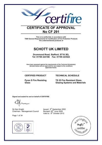 Fire Rated Glass Certification Smartglass International