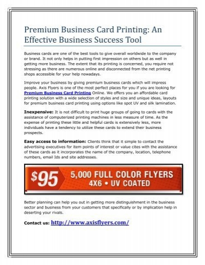 Premium business card printing an effective business success tool reheart Gallery