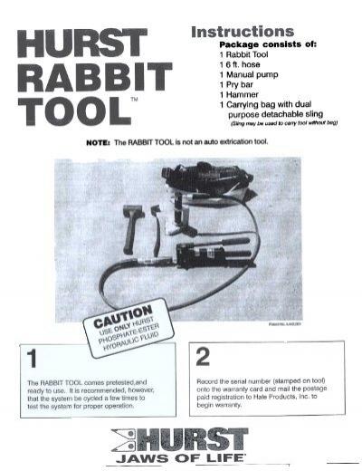 rabbit tool. 1 rabbit tool 16ft. hose manual pump pry bar hammer .