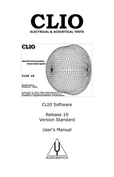 download the clio 10 user s manual audiomatica srl rh yumpu com I'll Clio ProLaw Software
