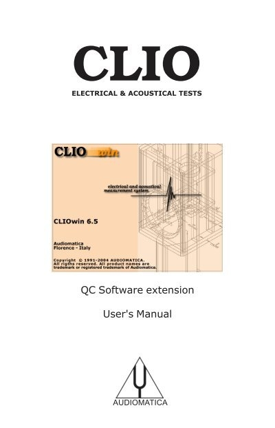 cliowin 6 5 qc software extension user s manual audiomatica srl rh yumpu com ProLaw Software Clio Trust
