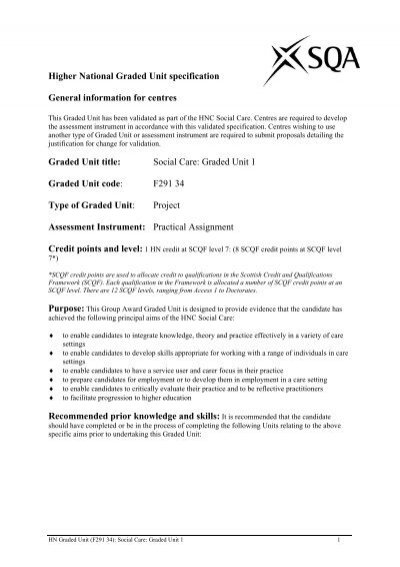 hnc social care graded unit implementation stage essay Lessons learned how hnc healthcare graded unit essay restructuring programme following implementation fewer staff hnc social care graded unit planning stage.