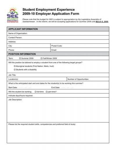0910 employer application form pmd saskatchewan rivers