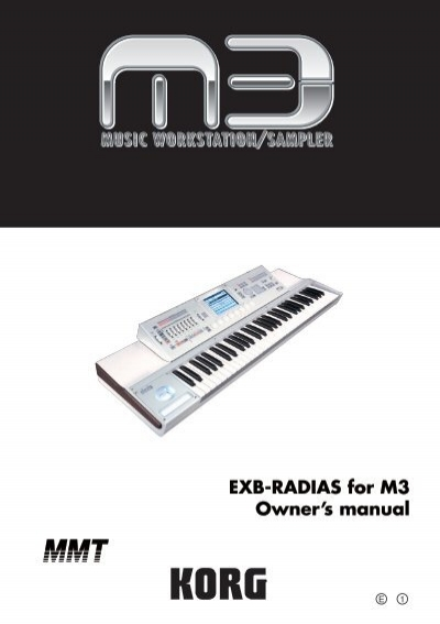 exb radias for m3 owner s manual korg rh yumpu com Korg Keyboards Korg Keyboards