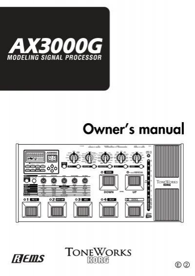 Manual de korg ax3000.