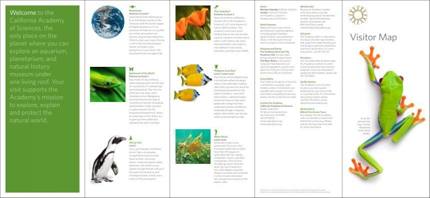 Visitor Map - California Academy of Sciences on