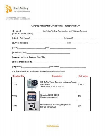 general clauses to emergency equipment rental agreement form – Equipment Rental Agreement