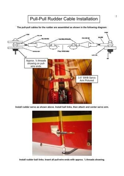 Rudder pull pull installation - polarista's blog on