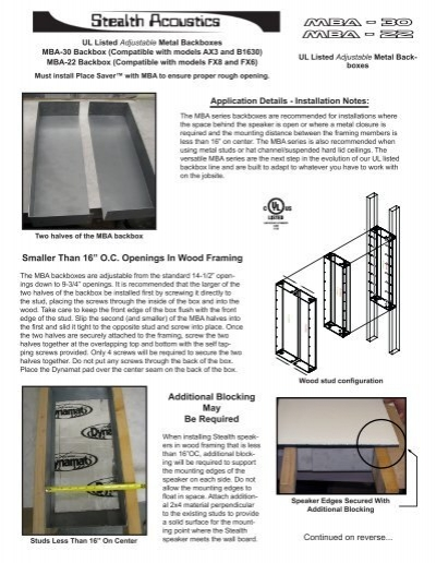 MBA - 30 MBA - 22 - Stealth Acoustics