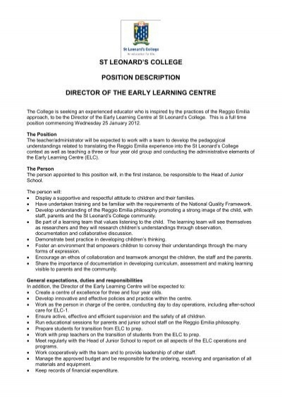 Medical Director Job Description Job Description Post Vice