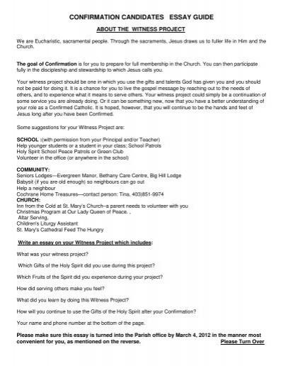 Confirmation saint essay philosophy essay on existence of god