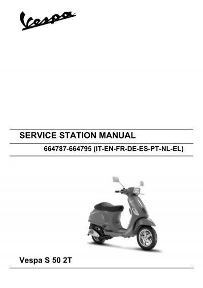 vespa 50 workshop manual