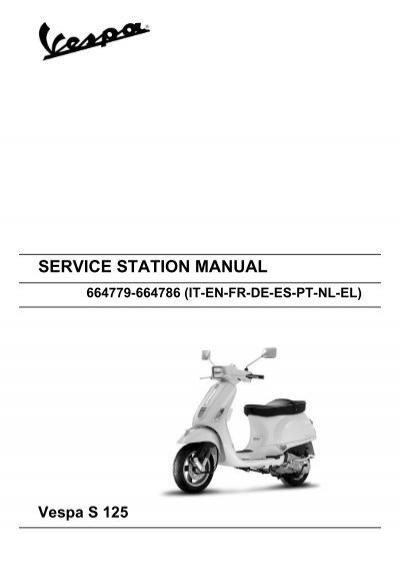 service station manual vespa lx 125 150 4t euro 3 rh yumpu com vespa lx 125 service manual pdf vespa lx 125 service manual pdf