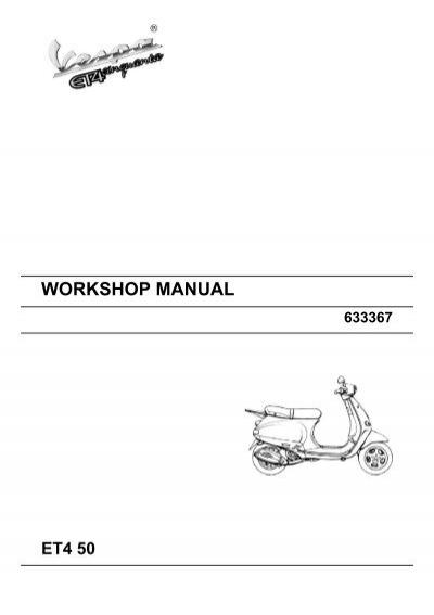 workshop manual vespa et4 50 rh yumpu com vespa et4 125 service manual pdf vespa et4 owners manual pdf